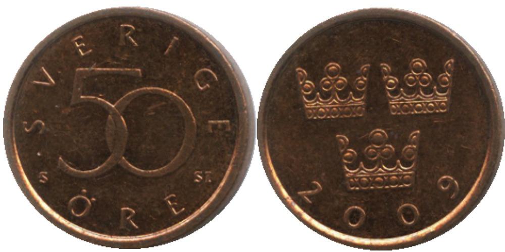 50 эре 2009 Швеция
