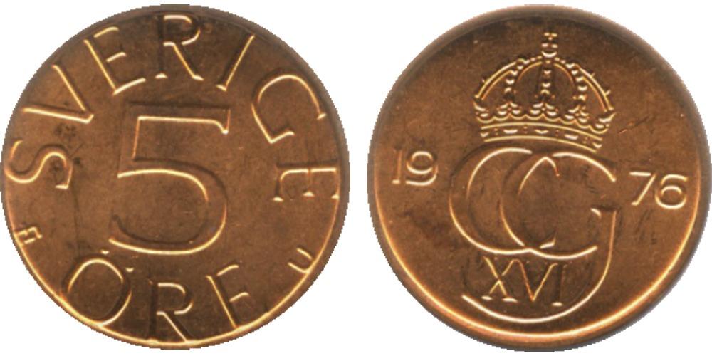 5 эре 1976 Швеция