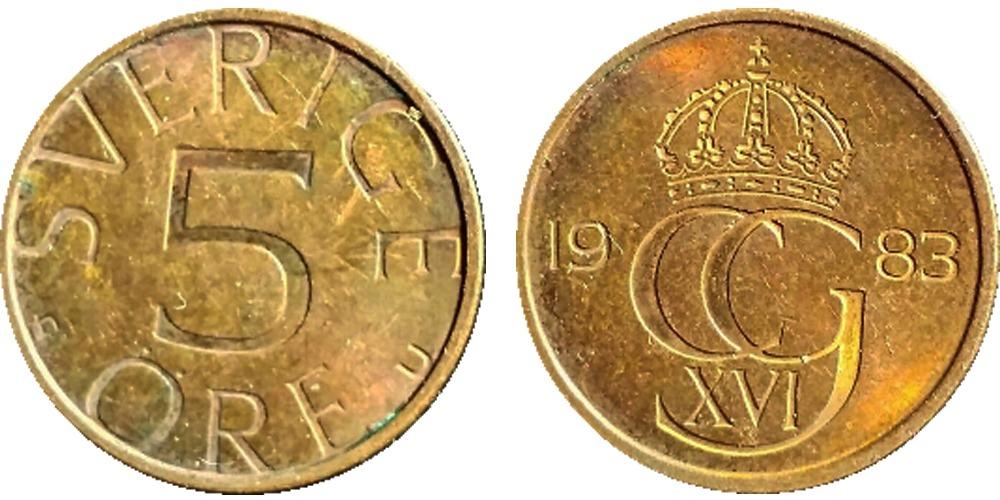 5 эре 1983 Швеция