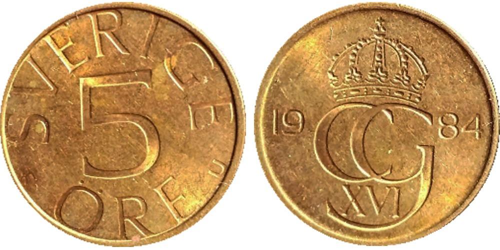 5 эре 1984 Швеция