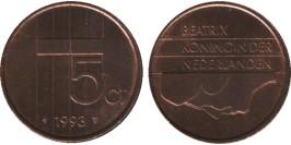 5 центов 1993 Нидерланды