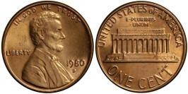 1 цент 1980 D США UNC