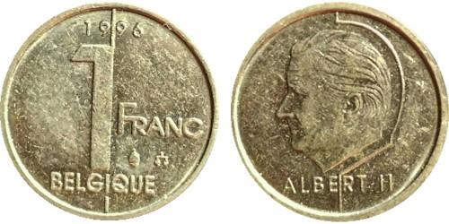 1 франк 1996 Бельгия (FR)