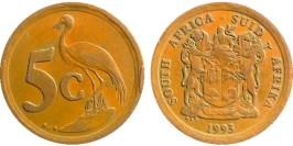 5 центов 1993 ЮАР
