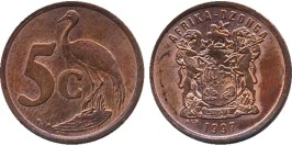 5 центов 1997 ЮАР