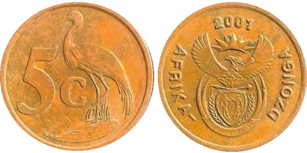 5 центов 2001 ЮАР