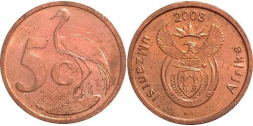 5 центов 2008 ЮАР
