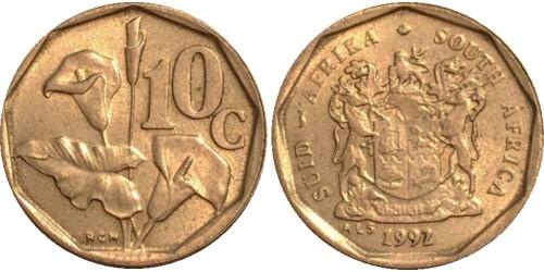 10 центов 1992 ЮАР