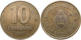 10 сентаво 2007 Аргентина