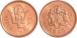 1 цент 2012 Барбадос
