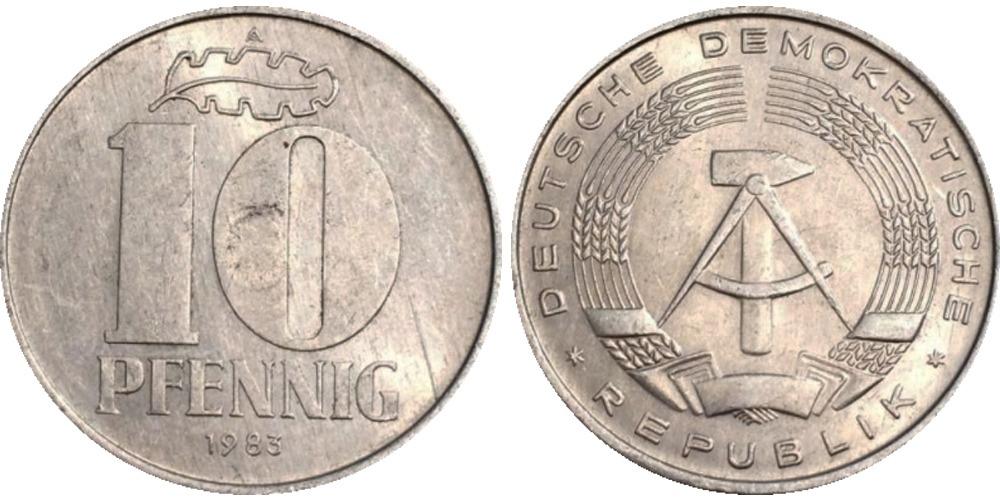 10 пфеннигов 1983 «A» ГДР