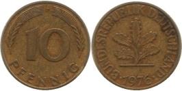 10 пфеннигов 1976 «F» ФРГ