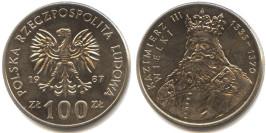100 злотых 1987 Польша — Польские правители — Король Казимир III Великий