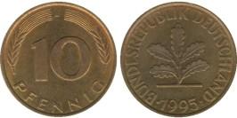 10 пфеннигов 1995 «J» ФРГ
