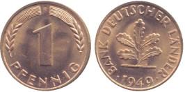 1 пфенниг 1949 «F» ФРГ