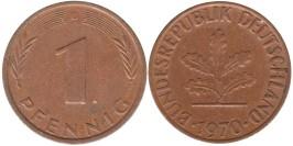 1 пфенниг 1970 «D» ФРГ