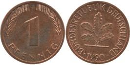 1 пфенниг 1990 «J» ФРГ