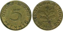 5 пфеннигов 1950 «G» ФРГ