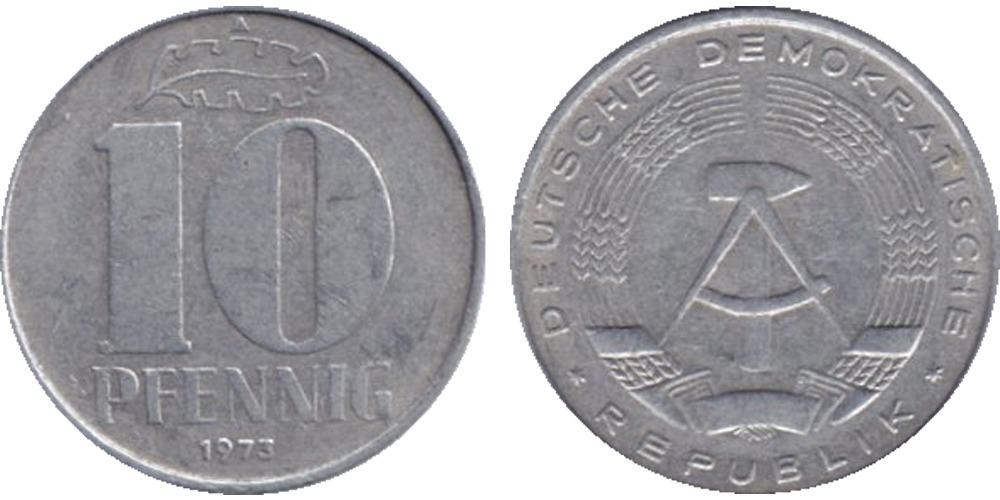 10 пфеннигов 1973 «A» ГДР