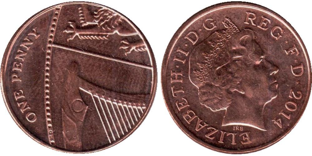 1 пенни 2014 Великобритания