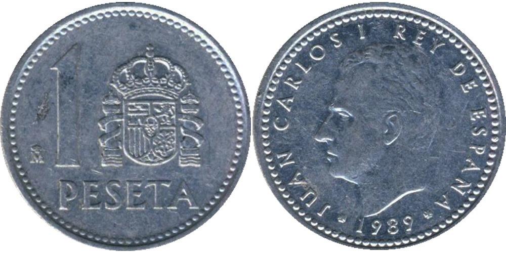 1 песета 1989 Испания
