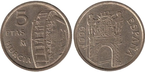 5 песет 1999 Испания