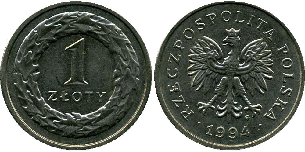Сколько стоит монета 1 zloty 1994 аукционы интернет
