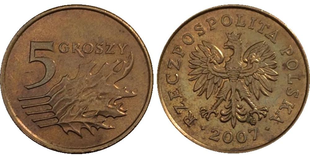 5 грошей 2007 Польша