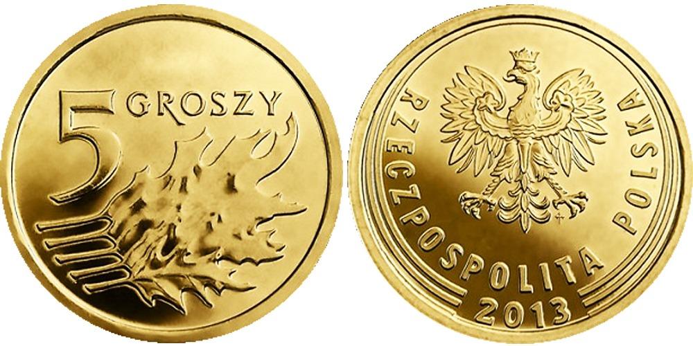 5 грошей 2013 Польша