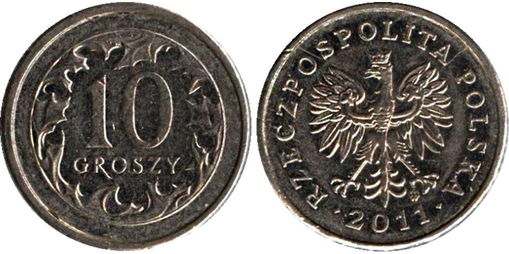 10 грошей 2011 Польша