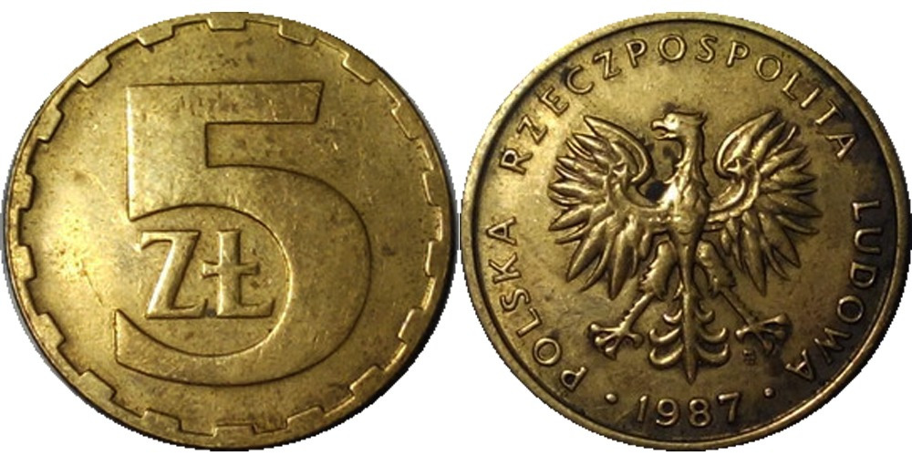 5 злотых 1987 Польша