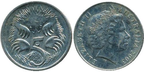 5 центов 2003 Австралия
