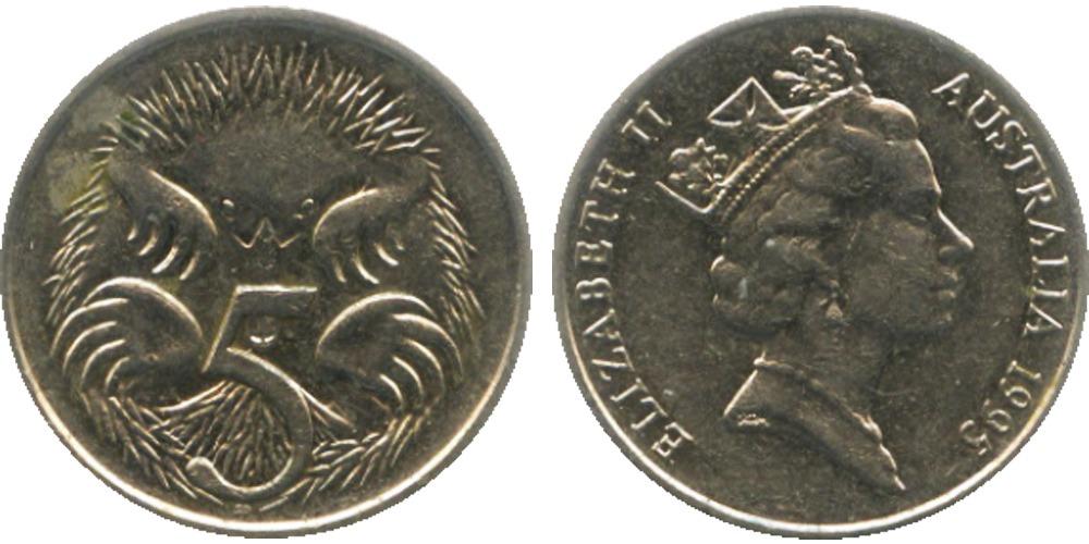 5 центов 1995 Австралия