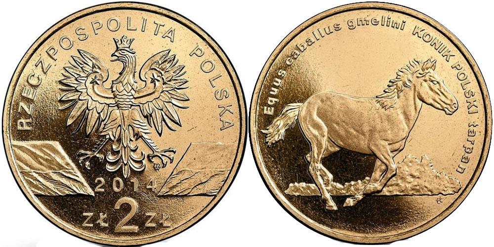 2 злотых 2014 Польша — Всемирная природа — Польский коник