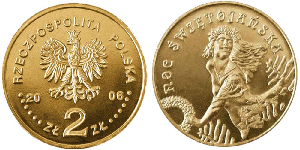 2 злотых 2006 Польша — Ритуалы Польши — Иван Купала