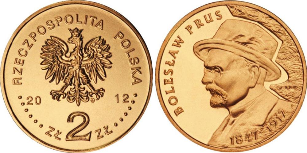 2 злотых 2012 Польша — 100 лет со дня смерти Болеслава Пруса