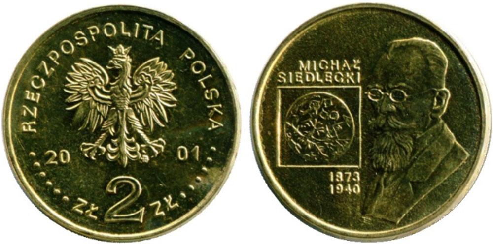 2 злотых 2001 Польша — Польские путешественники — Михал Седлецкий (1873-1940)