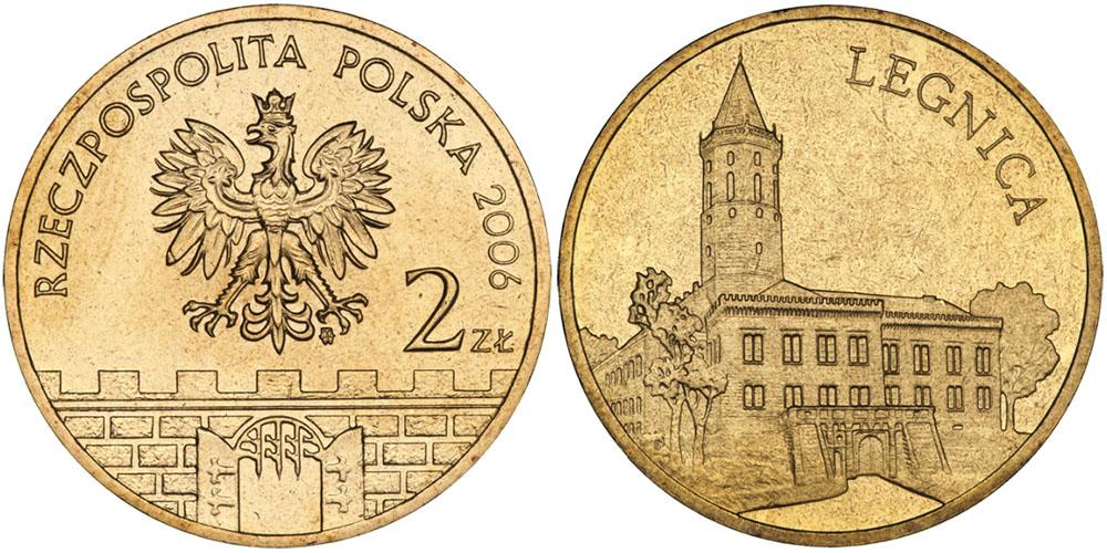 2 злотых 2006 Польша — Древние города Польши — Легница