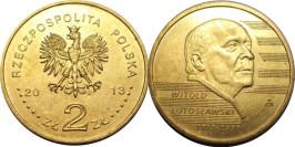 2 злотых 2013 Польша — 100 лет со дня рождения Витольда Лютославского