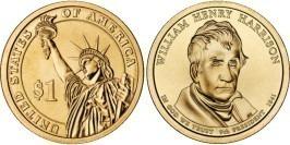 1 доллар 2009 P США UNC — Президент США — Уильям Гаррисон (1841) №9