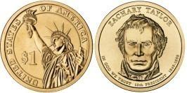 1 доллар 2009 P США UNC — Президент США — Закари Тейлор (1849 — 1850) №12