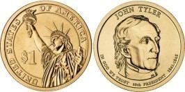 1 доллар 2009 P США UNC — Президент США — Джон Тайлер (1841 — 1845) №10