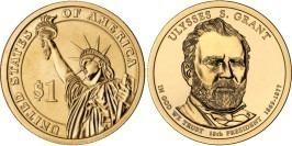 1 доллар 2011 P США UNC — Президент США — Улисс Грант (1869-1877) №18