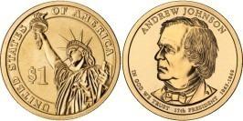 1 доллар 2011 D США UNC — Президент США — Эндрю Джонсон (1865 — 1869) №17