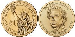 1 доллар 2010 Р США UNC — Президент США — Франклин Пирс (1853-1857) №14