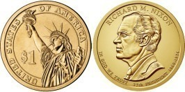 1 доллар 2016 Р США UNC — Президент США — Ричард Никсон (1969–1974) №37