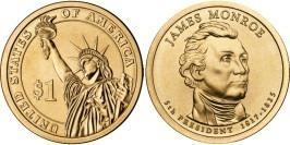 1 доллар 2008 P США UNC — Президент США — Джеймс Монро (1817-1825) №5