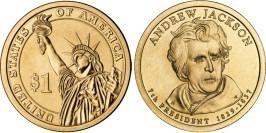 1 доллар 2008 Р США UNC — Президент США — Эндрю Джексон (1829-1837) №7