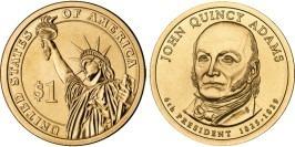 1 доллар 2008 D США UNC — Президент США — Джон Куинси Адамс (1825-1829) №6