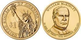 1 доллар 2013 D США UNC — Президент США — Уильям Мак-Кинли (1897 — 1901) №25